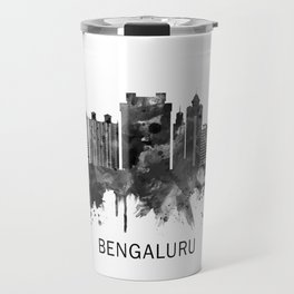 Bengaluru Karnataka Skyline BW Travel Mug