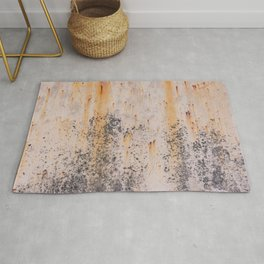 Abstract textures in old metal Rug