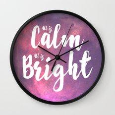 Calm & Bright Wall Clock