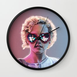 Electrick Girl Wall Clock