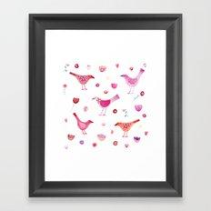 Birds and Blossoms Framed Art Print
