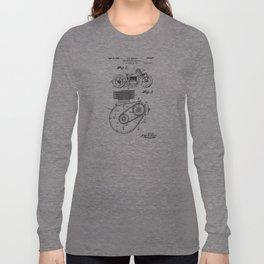 Motorcycle Patent Art Long Sleeve T-shirt
