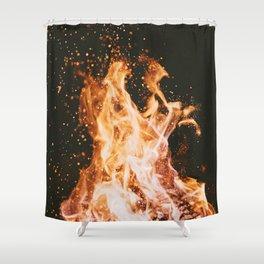 Winter Campfire Shower Curtain