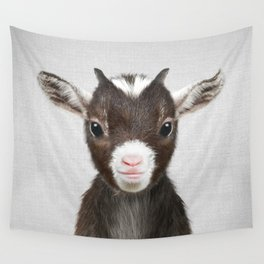 Baby Goat - Colorful Wall Tapestry