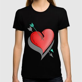 Heart and arrow, a touch of romance T-shirt