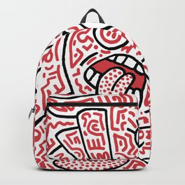 """""""The Face"""" - inspired by Keith Haring v. red Backpack"""