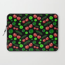 Cherries on Black Laptop Sleeve