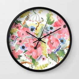 Watermelon•Flowers Wall Clock