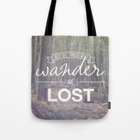 wander Tote Bags featuring Wander by Canoe Point Designs