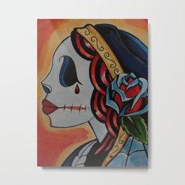 Fiery Deadhead Metal Print