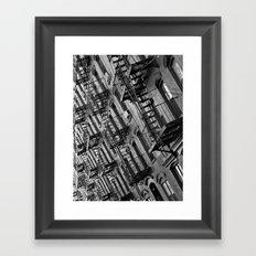 Fire escapes Framed Art Print