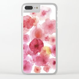 Caramel flowers 2 Clear iPhone Case