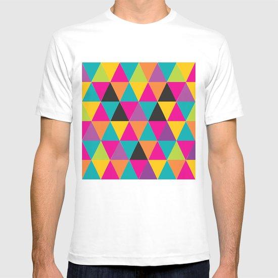 geometric rain T-shirt