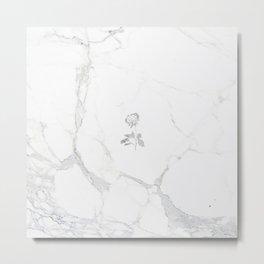 Forever Petal (White Silver) Metal Print