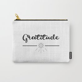 Gratitude Love Grateful inspirational yoga Quote Carry-All Pouch