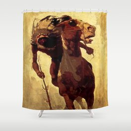 "N C Wyeth Vintage Western Painting ""Indian Lance"" Shower Curtain"