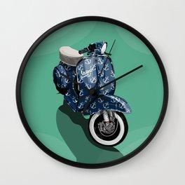 Vespa Vector Sailor Wall Clock