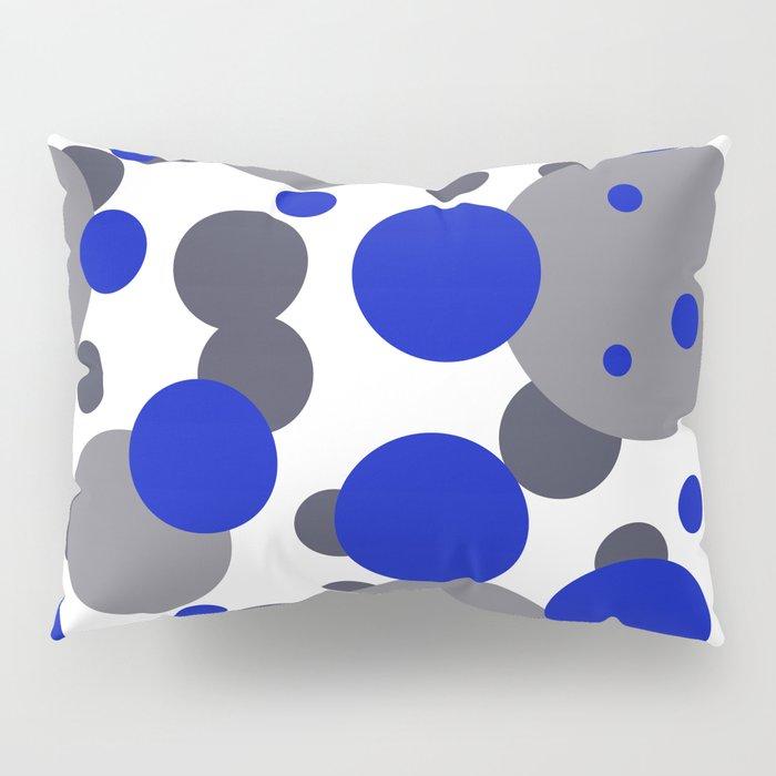 Bubbles blue grey- white design Pillow Sham