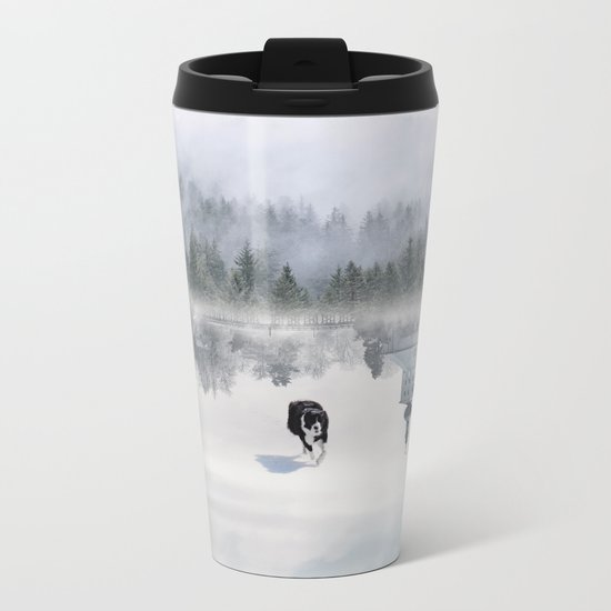 Dreaming Dog Metal Travel Mug