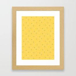 Chemistry Class Doodles - Yellow Framed Art Print