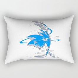 Blue Sonic  Rectangular Pillow