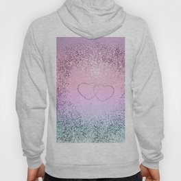 Unicorn Girls Glitter Hearts #2 #shiny #pastel #decor #art #society6 Hoody