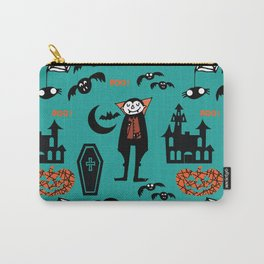 Cute Dracula and friends teal #halloween Carry-All Pouch