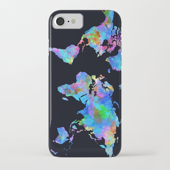 Iphone 6 World Map Case.World Map Watercolor Black Iphone Case By Bekimart Society6