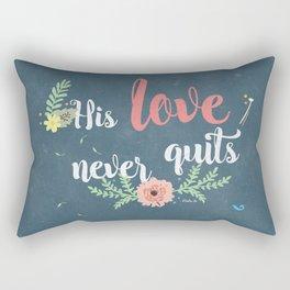 His Love Never Quits Rectangular Pillow