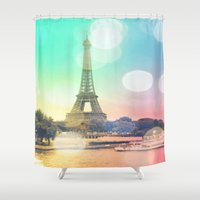 paris Shower Curtains featuring Paris. by Whimsy Romance & Fun