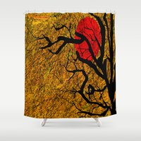 twilight Shower Curtains featuring TWILIGHT by aztosaha