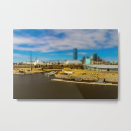 Oklahoma River by Monique Ortman Metal Print