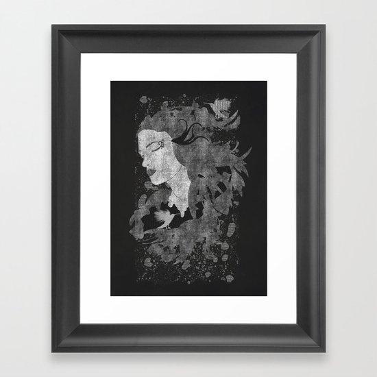 Cosmic dreams (B&W) Framed Art Print