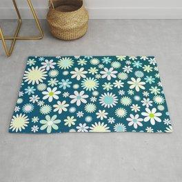Pastel Floral Background Rug