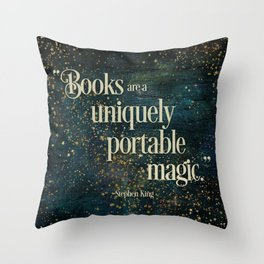 Books are a Uniquely Portable Magic Throw Pillow