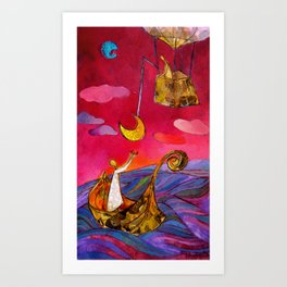 Between Earth and Sky – Home 1 Art Print