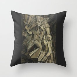 Marcel Duchamp - Nude Descending a Staircase, No. 2 Throw Pillow