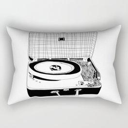 Record Player Rectangular Pillow