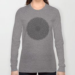 Circle of Life Mandala Black and White Long Sleeve T-shirt