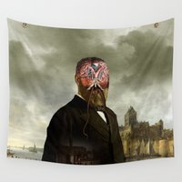 cthulhu Wall Tapestries featuring Cthulhu II by DIVIDUS