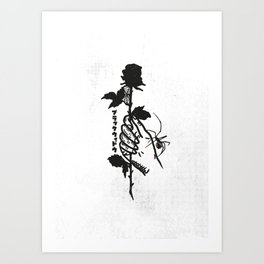 Blackwidow & Rose Art Print