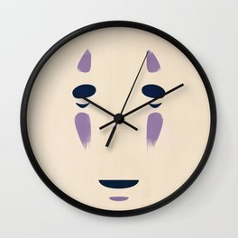 Spirited Away - No Face Minimalist, Miyazaki, Studio Ghibli Wall Clock