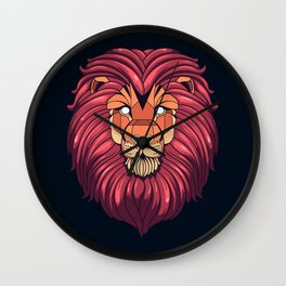 The eyes of a Lion Wall Clock