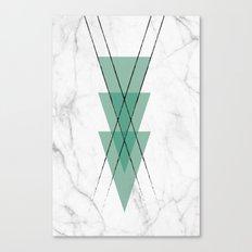 Marble Scandinavian Design Geometric Triangle Canvas Print