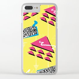 Fashion Patterns Rad, Bad and Glad Clear iPhone Case