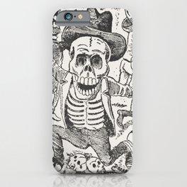 Skeleton and Bones Mexican Art,  Jose Guadalupe Posada iPhone Case