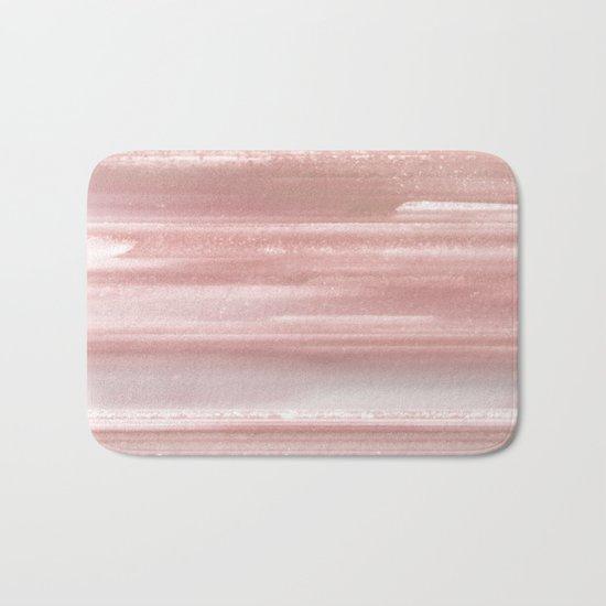 Geode Crystal Rose Gold Pink Bath Mat