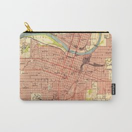 Vintage Map of Topeka Kansas (1951) Carry-All Pouch