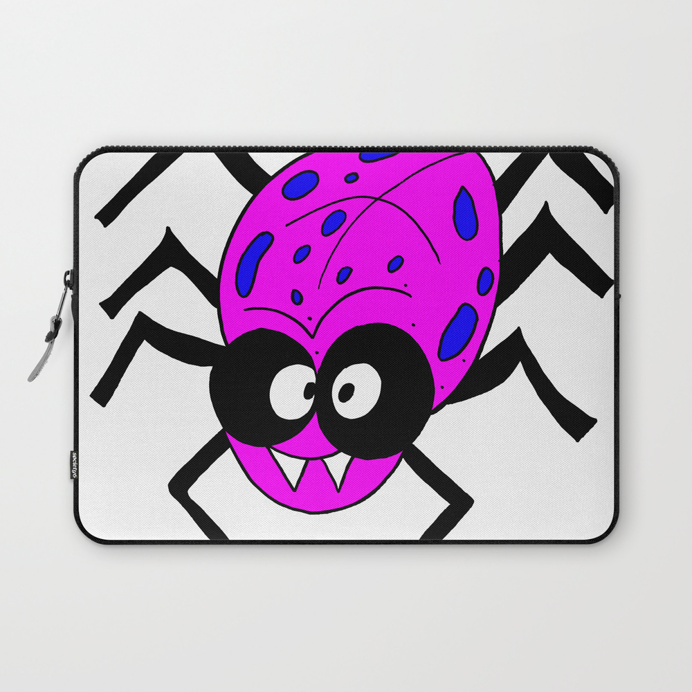 Drawing Cartoon Of A Funny Looking Spider Laptop Sleeve LSV8739156