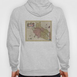 Vintage Map of Tuscany Italy (1665) Hoody